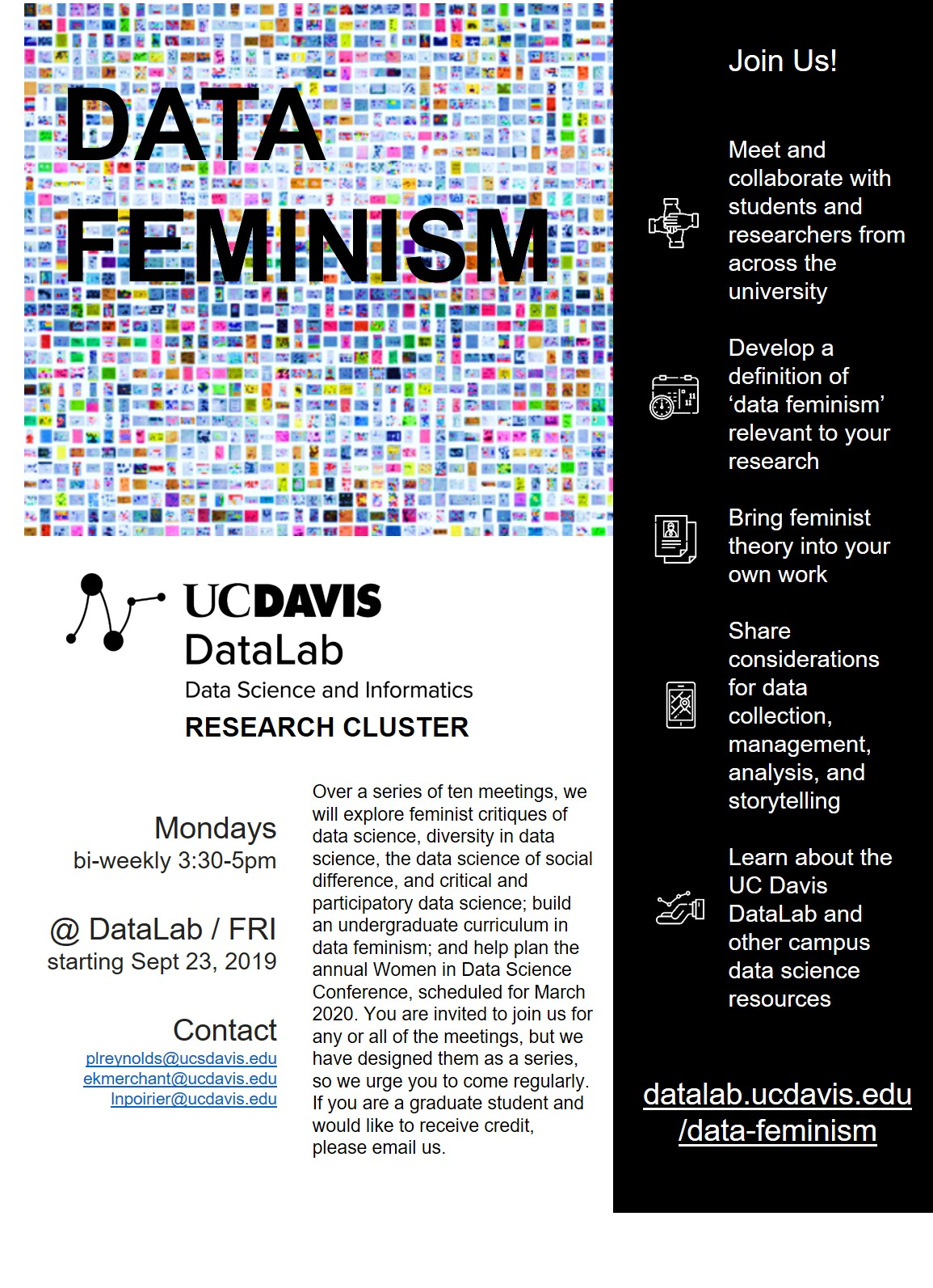 """The featured image is cover art from """"Data Feminism"""" by Catherine D'Ignazio and Lauren Klein."""